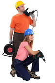 Young couple about to start renovating — Stock Photo