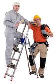 Elektricien en decorateur — Stockfoto