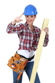 Hi, I came to do the carpentry. — Stock Photo
