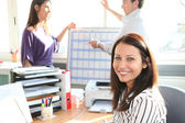 Three office colleagues — Stock Photo