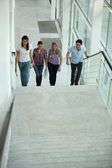 Walking up stairs — Stock Photo