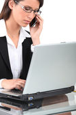 Young businesswoman telephone call — Stock Photo