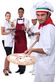 Pizzeria staff — Stock Photo