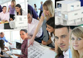Images of architects working — Stock Photo