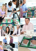 Staff in architect's office — Stock Photo