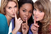 Friends with a secret — Stock Photo