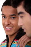 Closeup portrait of black student — Stock Photo