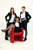 Trio of sexy businesswomen — Stock Photo