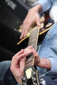 Electric guitar lesson — Stock Photo