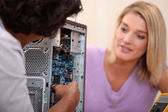 PC repair — Stock Photo