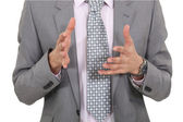 Businessman gesturing with his hands — Stock Photo