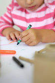 Child coloring — Stock Photo