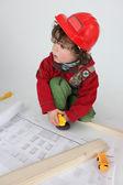 Little boy architect — Stock Photo