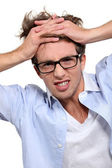 Young employee under pressure — Stock Photo