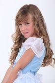 Little girl in a fancy dress — Stock Photo