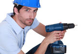 Man with hole — Stock Photo