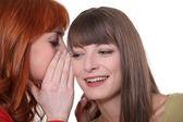 Two girls gossiping — Stock Photo