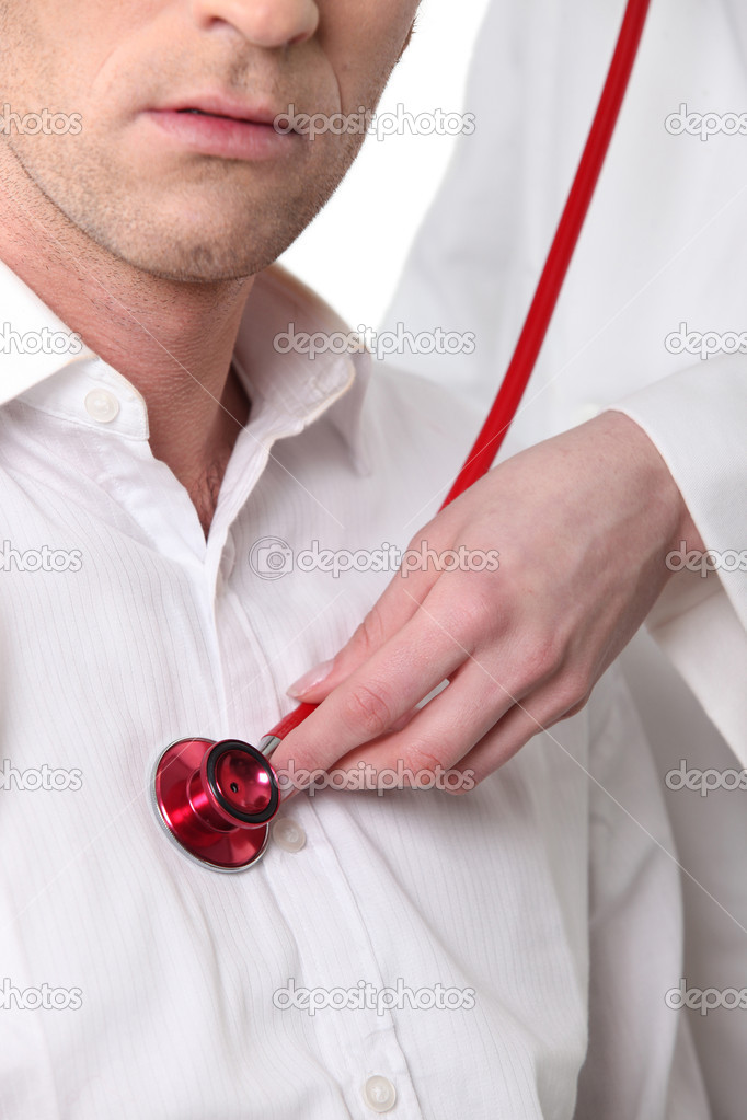Auscultation of heart — Stock Photo #11846395
