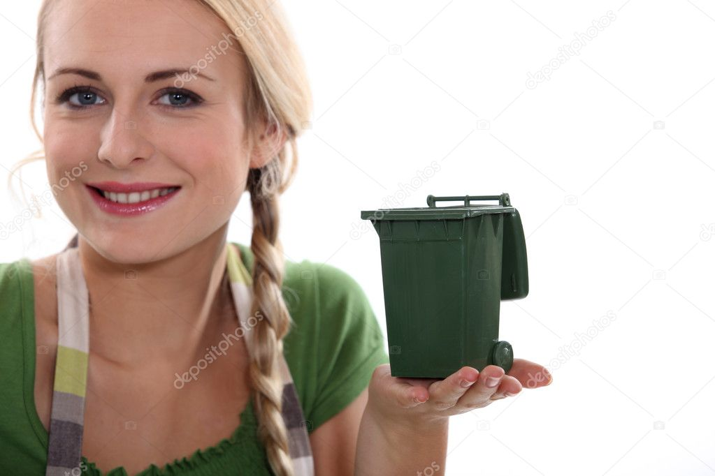 Advertisement for recycling trash — Stock Photo #11846598