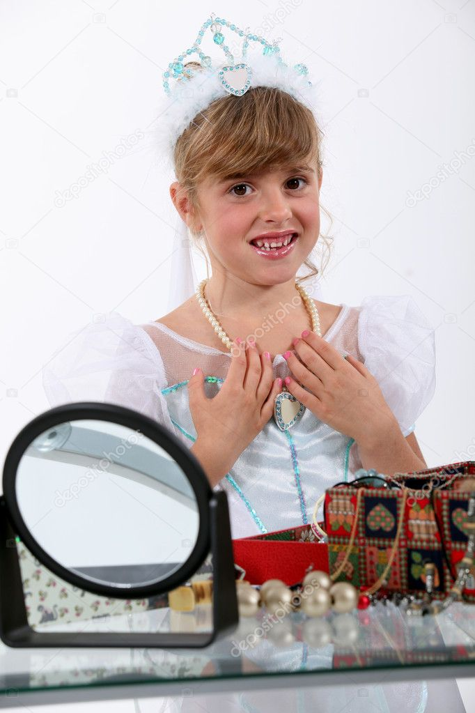 Little girl dressed as princess — Stock Photo #11848612