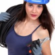 Female electrician — Stock Photo #11853906