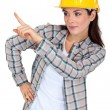 Woman supervising work - Stock Photo