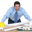 An architect in his office. — Stock Photo