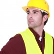 Worker in a reflective vest — Stock Photo #11858763