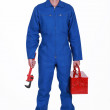 Plumber arriving at work — Stock Photo #11858818
