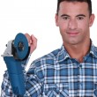Man holding angle-grinder — Stock Photo #11859303