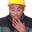 Construction worker who did a mistake. — Stock Photo #11859418