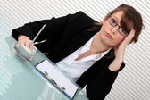 Corporate woman annoyed. — Stock Photo