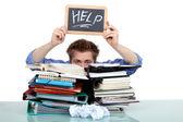 Overweldigd man vragen om hulp — Stockfoto