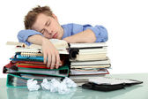 Overworked office worker — Stock Photo