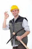 Happy workman — Stock Photo