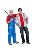 Decorator and apprentice — Stock Photo