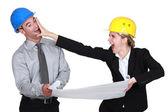 Empresarios una pelea — Foto de Stock