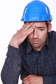 Engineer with a headache — Stock Photo