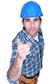 Craftsman pointing at you — Stock Photo