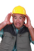 Terrified worker — Stock Photo