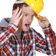 Workers scared — Stock Photo