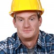 Stock Photo: Shocked builder