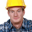 Royalty-Free Stock Photo: Shocked builder