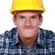 Royalty-Free Stock Photo: Tradesman making a silly face