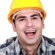 Stock Photo: Laughing builder