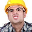 Scary construction worker — Stock Photo