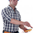 Nervous electrician — Stock Photo #11864883