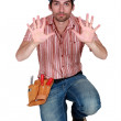 Tradesman holding up his hands — Stock Photo #11866651