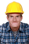 Tradesman making a silly face — Stock Photo