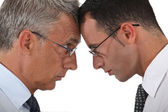 Businessmen head to head — Stock Photo